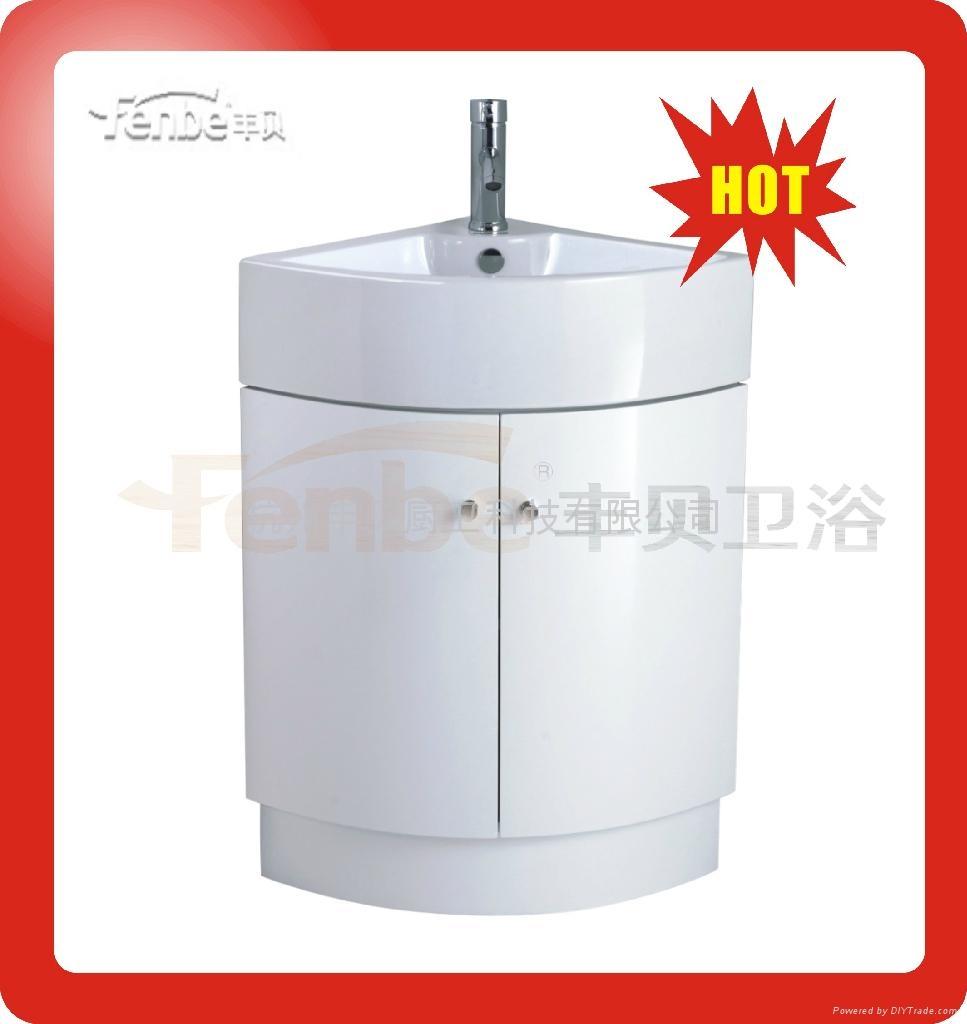 curved pvc bathroom cabinet mc510 fenbe china manufacturer