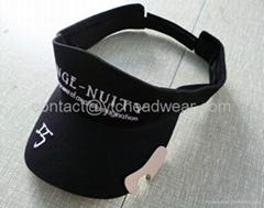 Visor cap with opener