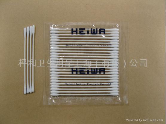 HEIWA細軸棉棒25本-4E-工業用淨化棉簽 1