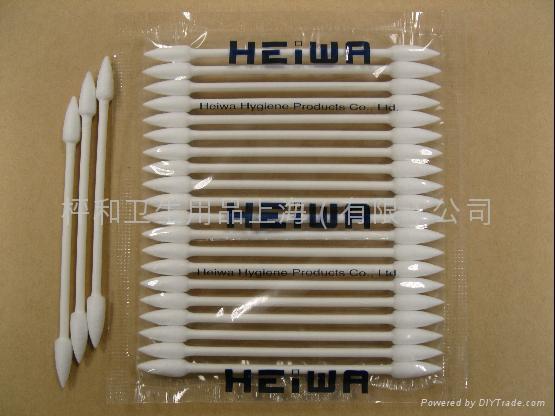 HEIWA普通軸尖頭棉棒25本-4E-工業用淨化棉簽 1