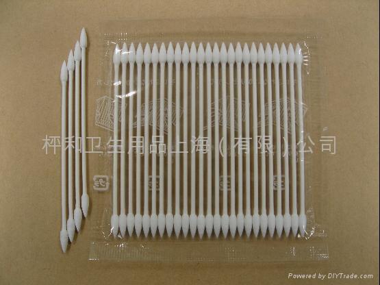 HEIWA細軸中尖頭棉棒25本-4E-工業用淨化棉簽 1