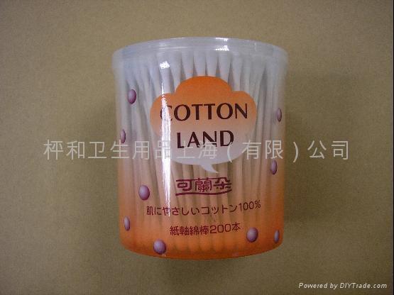 供應200本圓罐紙軸棉棒 1