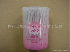 供应化妆用波形棉棒100本圆罐