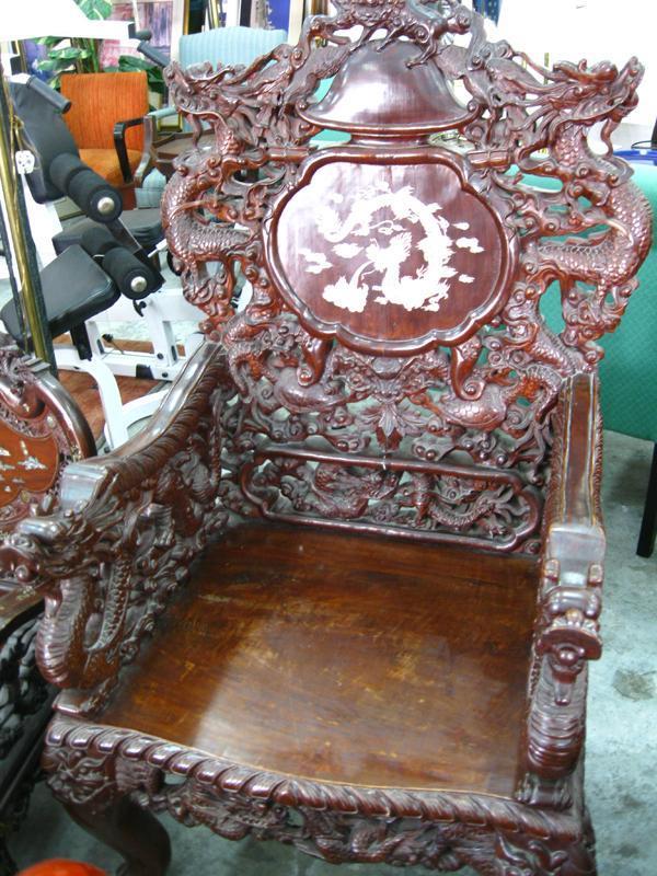 Rare Chinese Rosewood Furniture - Dragon Sofa Coffee