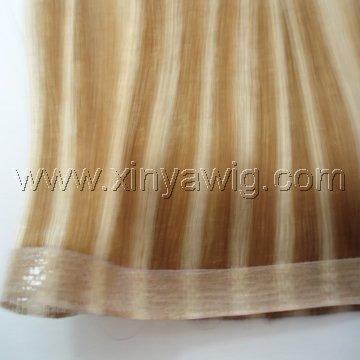 skin weft hair(pu weft hair) 1