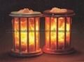 Wrought Iron Salt Lamps with salt Chunks 2