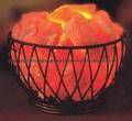 Wrought Iron Salt Lamps with salt Chunks 5
