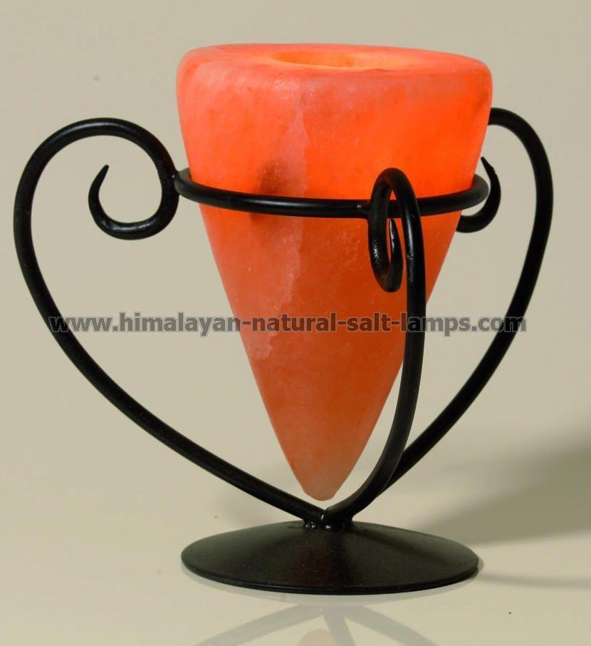 Wrought Iron Salt Candle holder & tea lights  1