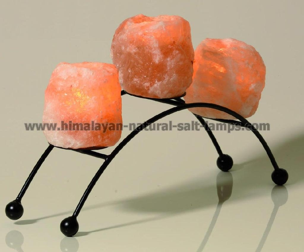 Wrought Iron Salt Candle holder & tea lights  2