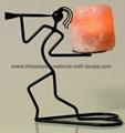 Wrought Iron Salt Candle holder & tea lights  3