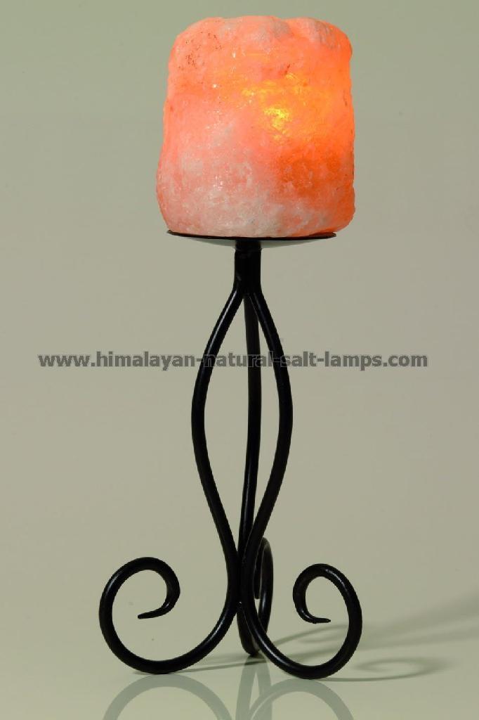 Wrought Iron Salt Candle holder & tea lights  5