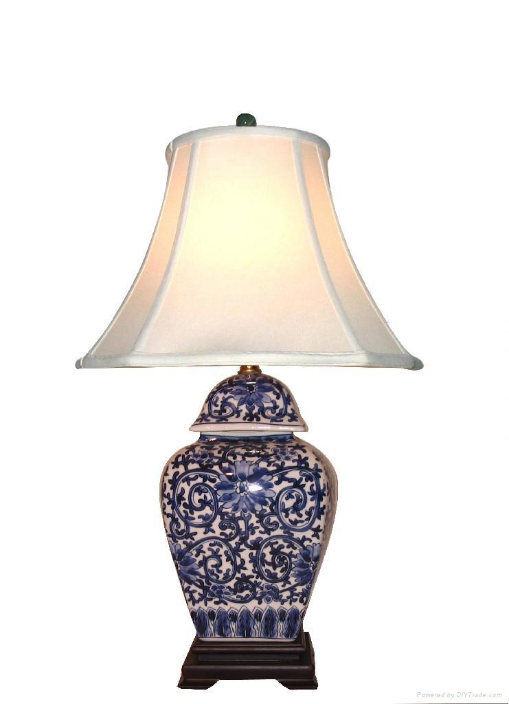blue white porcelain lamps lc021 lc025 whole young. Black Bedroom Furniture Sets. Home Design Ideas