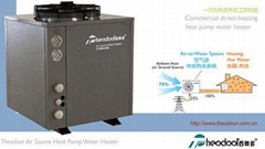 Commercial heat pump water heater (direct-heating)
