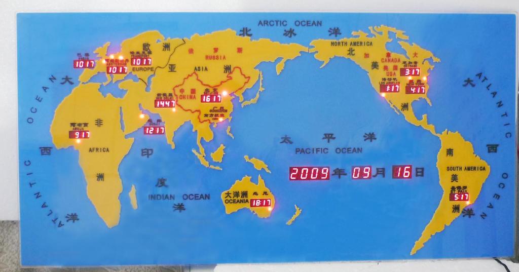 世界时间地图屏 4