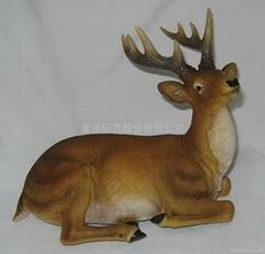 树脂鹿摆饰