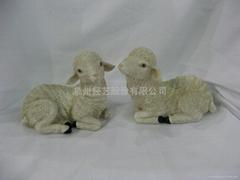 樹脂綿羊擺飾