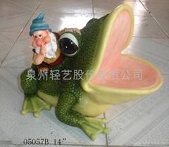 樹脂精靈青蛙擺飾