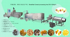 corn flex extruder machine