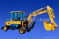 供应WT-800型180°半回转轮胎挖掘机