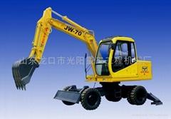 供应JW-70型轮式挖掘机