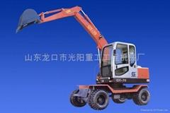 供应GY-70型360°全回转轮胎挖掘机