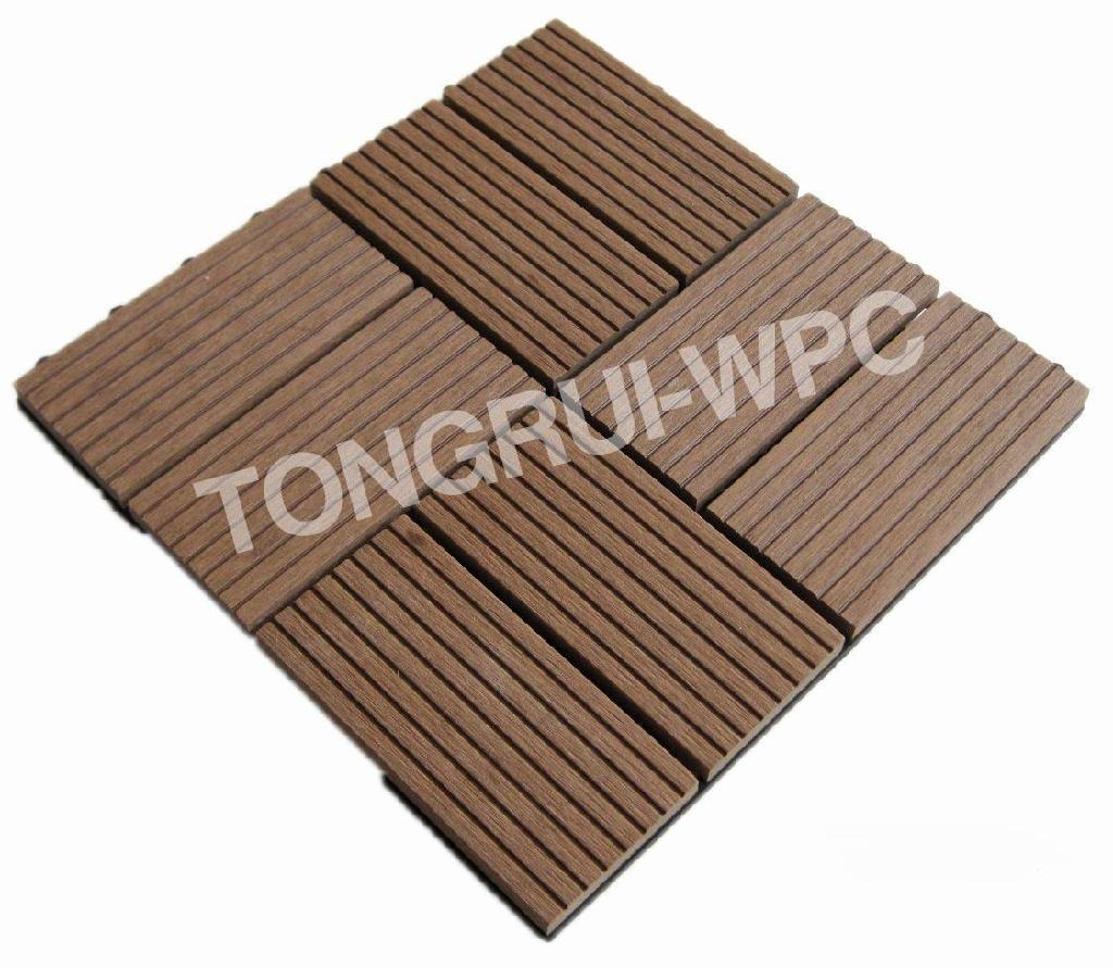 Wood Plastic Composite Decking Tiles Dti11 China