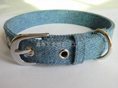 jean cloth dog collar