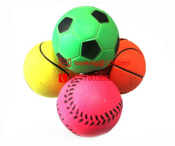 dog toy rubber ball with hi bouncing 60mm diameter 4