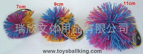 橡胶毛毛玩具球 3