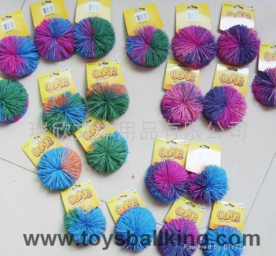 橡胶毛毛玩具球 4