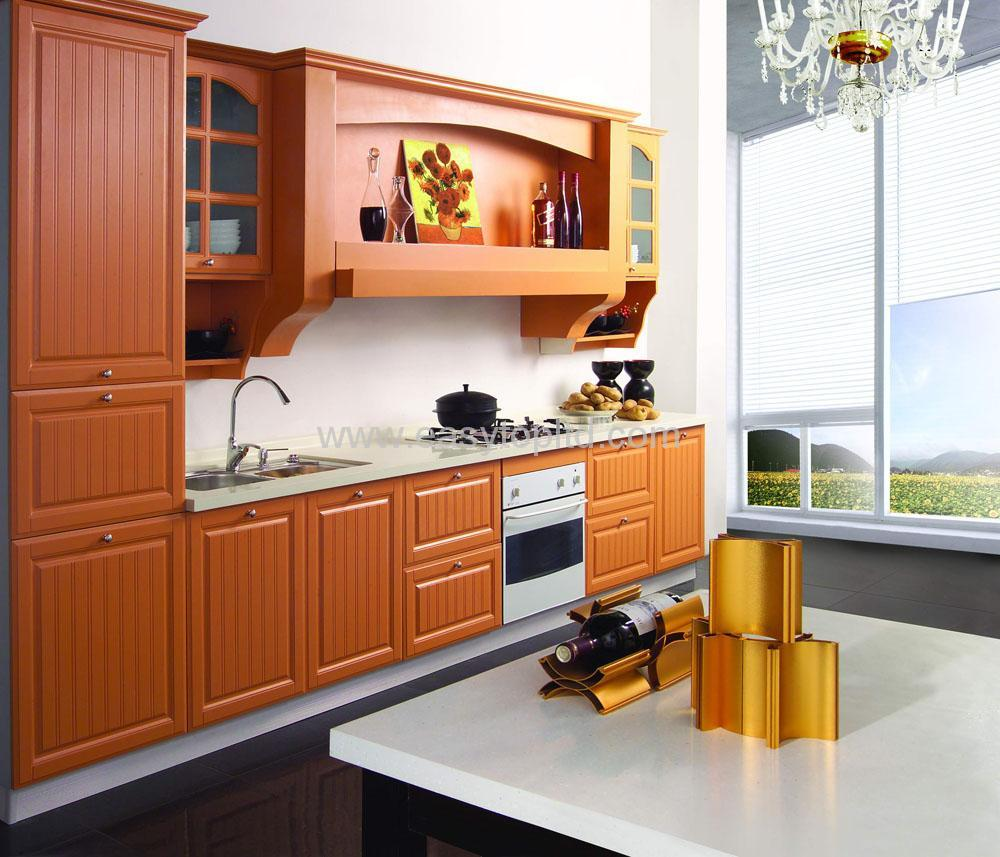 Kitchen cabinet mdf pvc et k pvc china kitchen for Kitchen furniture images