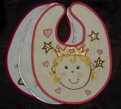 baby embroidery bibs