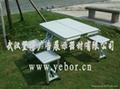 武漢鋁合金連體桌椅出售批發