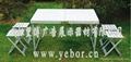 武漢塑料連體桌椅出售批發 5