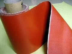 红色带钢丝硅胶布高强度硅胶布