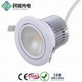 2012 NEW cutout 90mm 90 degree COB 18W led downlight