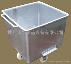 Stainless steel bucket elevator car