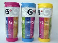供应 广告咖啡杯 隔热 双层