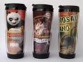 供应 隔热 双层 咖啡 广告杯