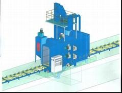 鋼板預處理生產線拋丸機