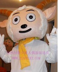 毛绒卡通人偶喜羊羊