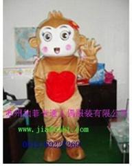 卡通表演服装道具跳跳猴