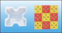 四孔草坪磚模具