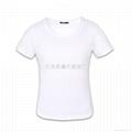白色纯棉圆领女式短袖T恤