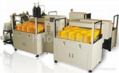 Vacuum chamber helium leak detection machine for AC pipeline