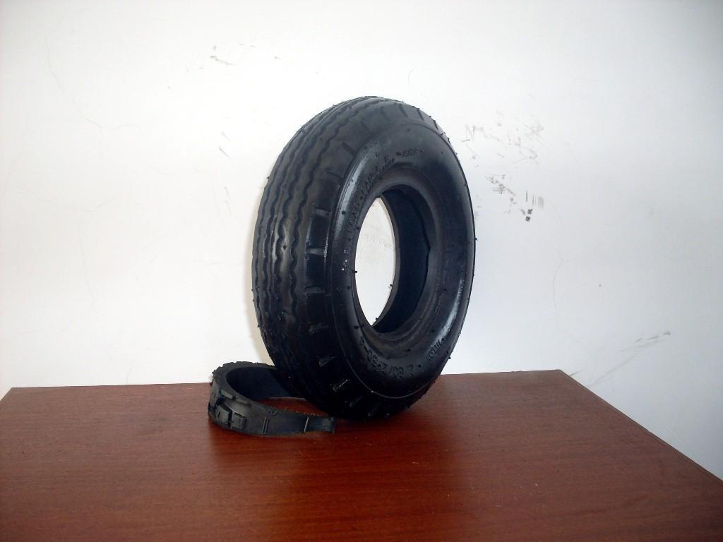 供應型號為410/350-4的輪胎 4