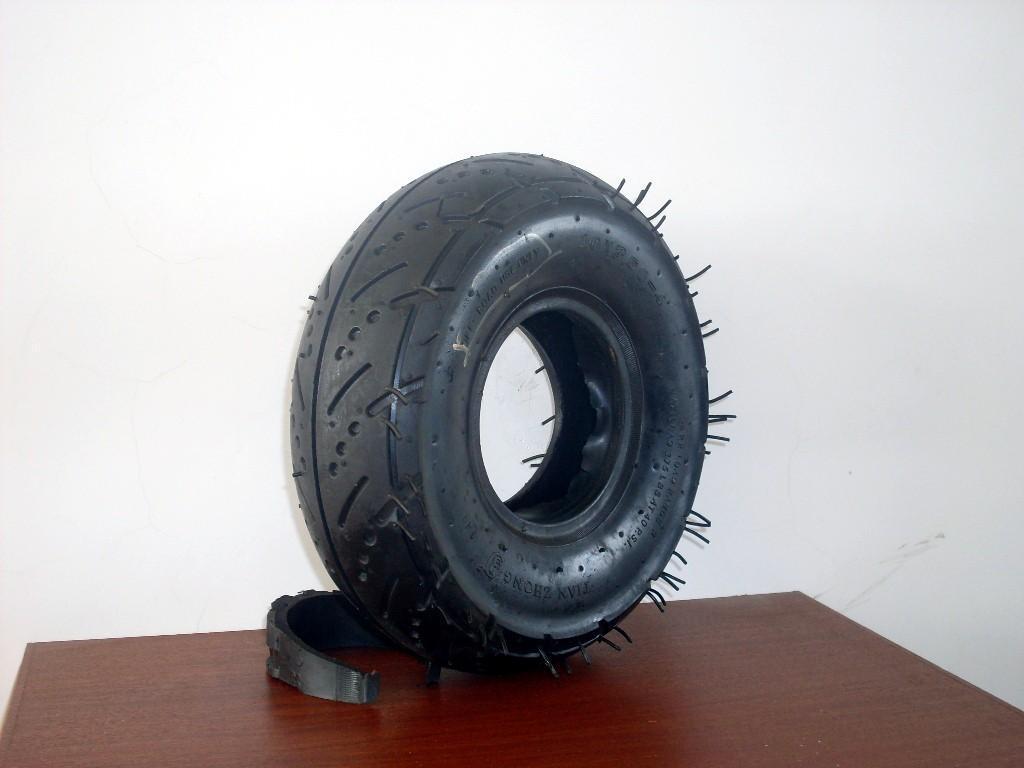 供應型號為410/350-4的輪胎 5