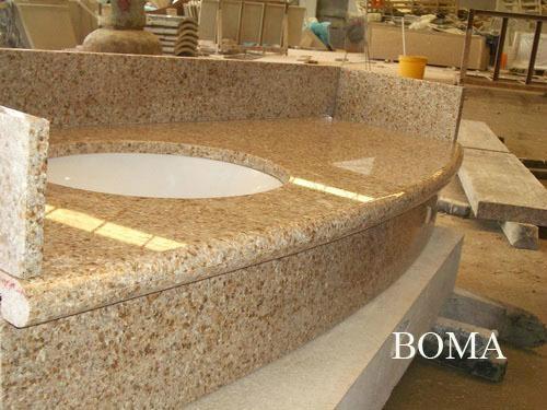 Golden Sand Granite Kitchen Countertop 1