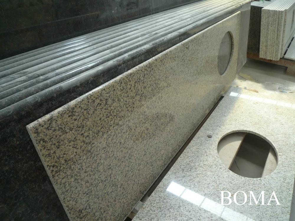 Golden Sand Granite Kitchen Countertop 2