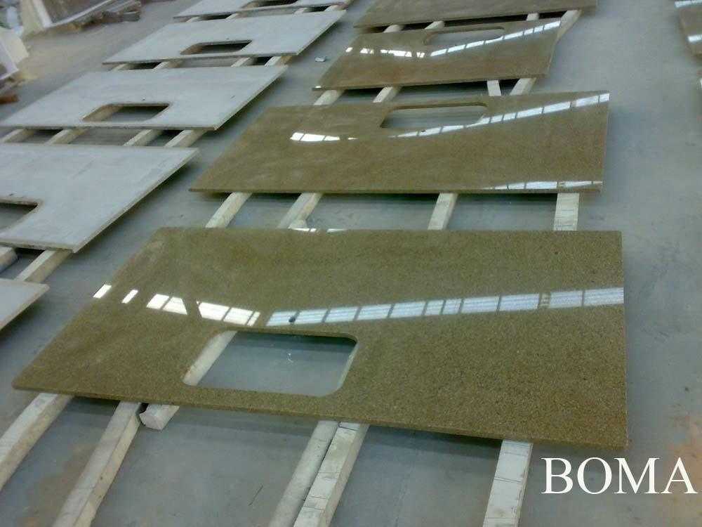 Golden Sand Granite Kitchen Countertop 5